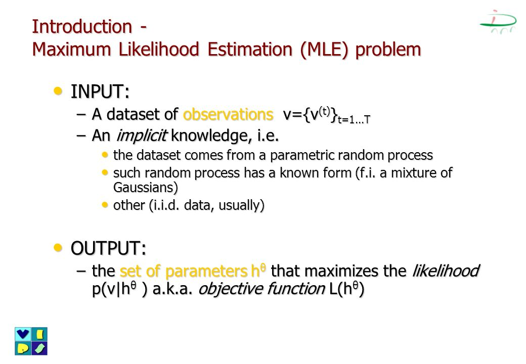 Introduction - Maximum Likelihood Estimation (MLE) problem