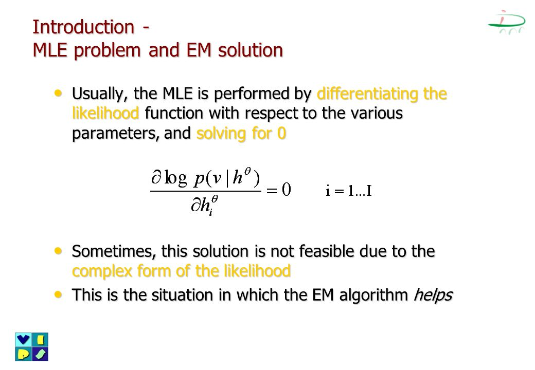 Introduction - MLE problem and EM solution