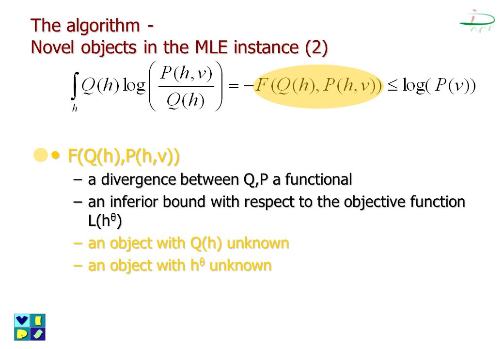 The algorithm - Novel objects in the MLE instance (2)