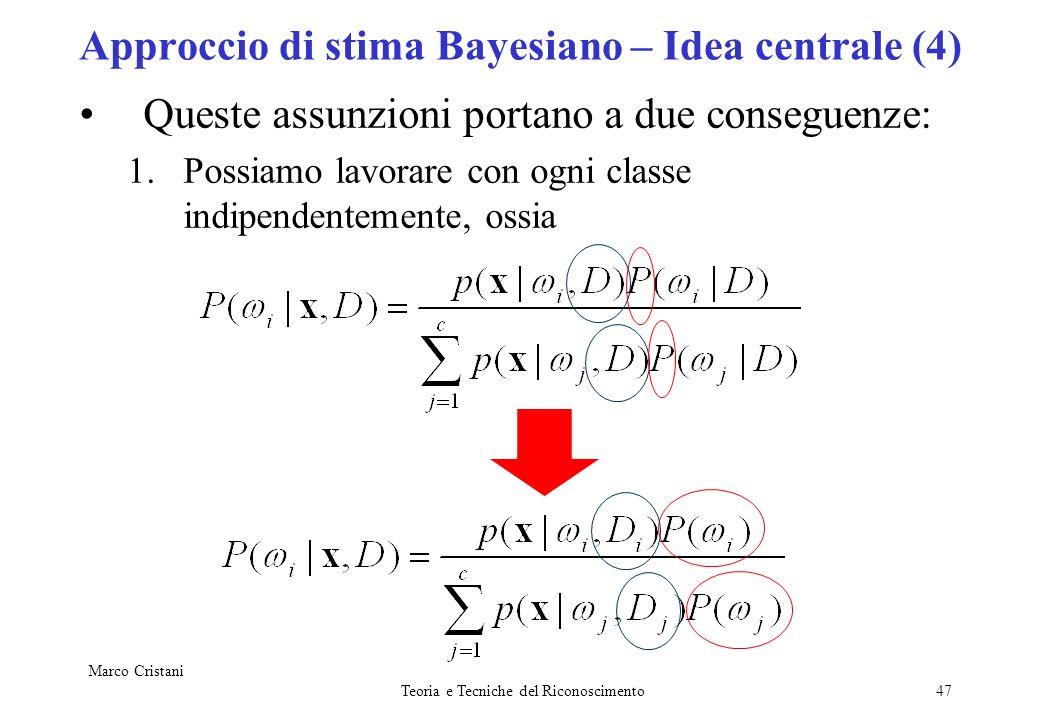 Approccio di stima Bayesiano – Idea centrale (4)