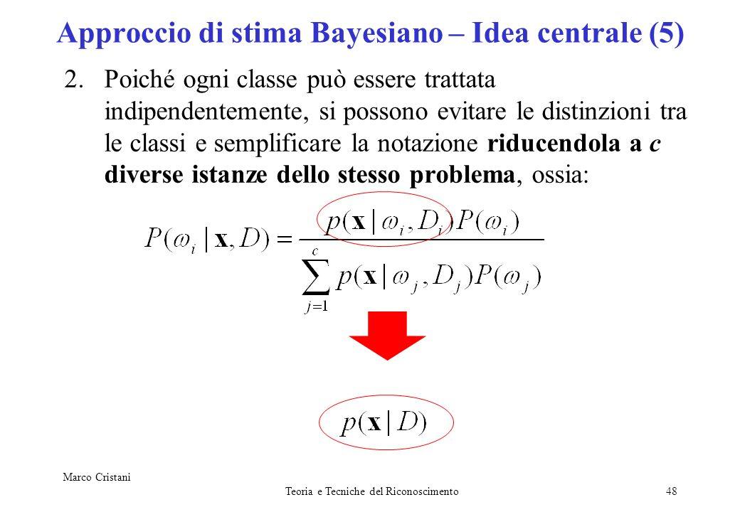 Approccio di stima Bayesiano – Idea centrale (5)