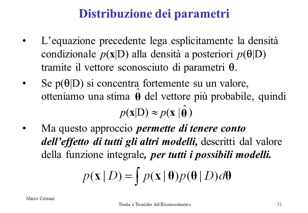 Distribuzione dei parametri