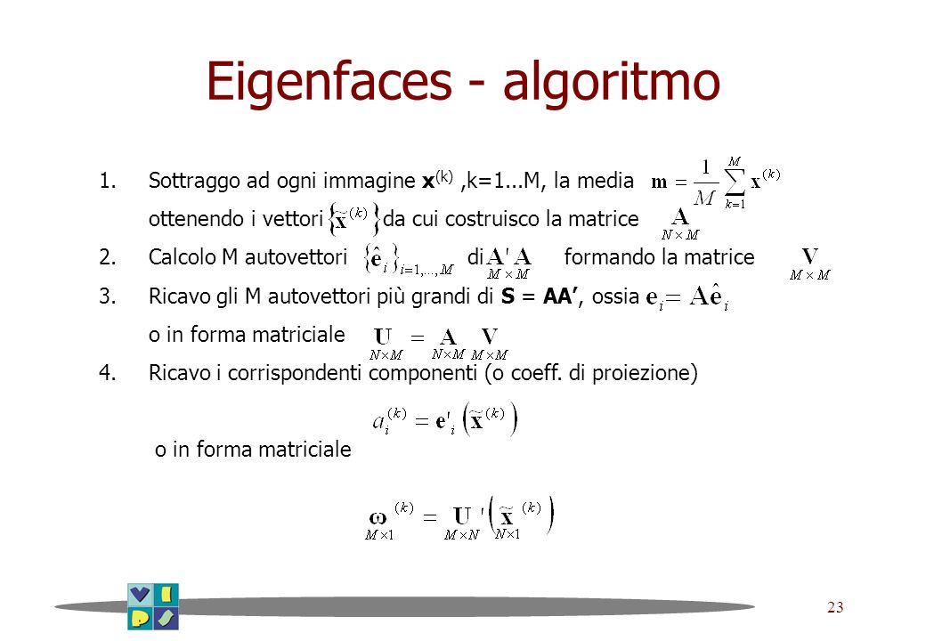 Eigenfaces - algoritmo