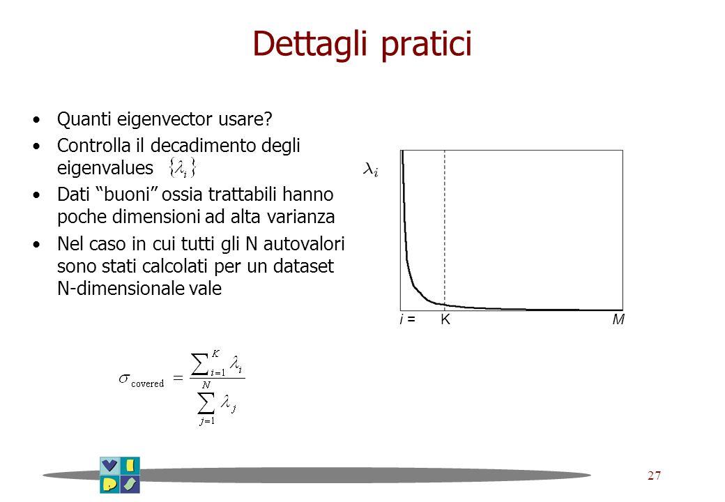 Dettagli pratici Quanti eigenvector usare