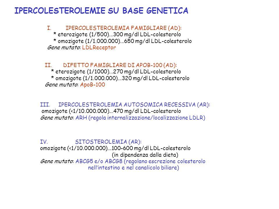 IPERCOLESTEROLEMIE SU BASE GENETICA