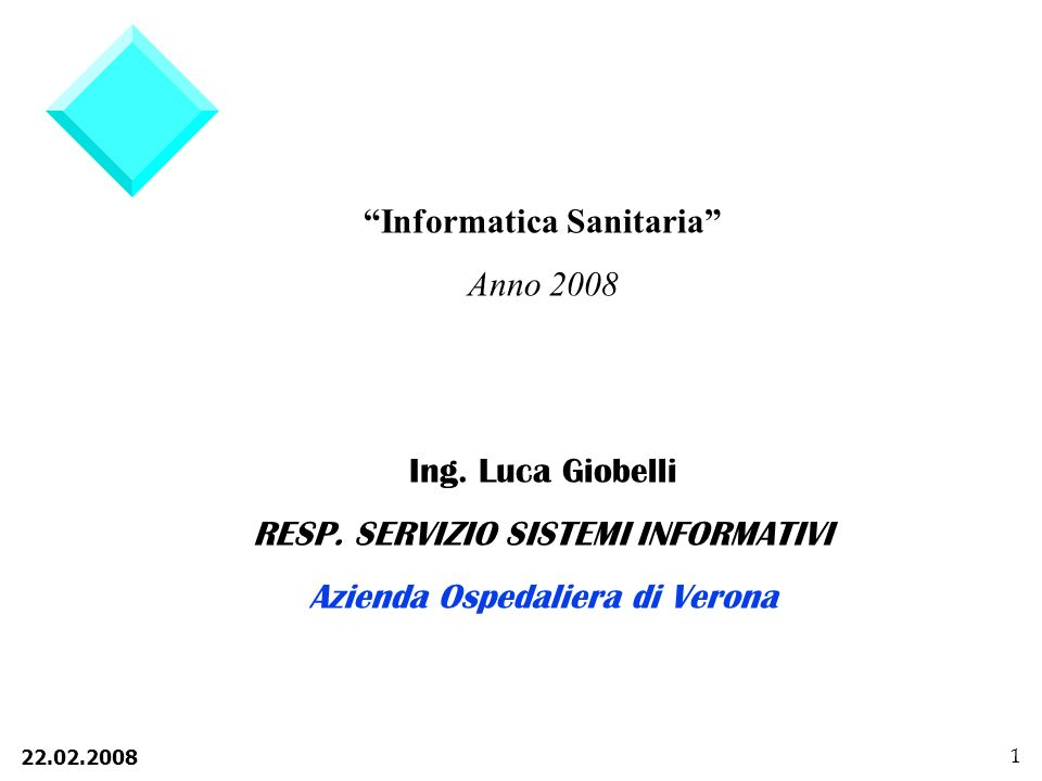 Informatica Sanitaria Anno 2008