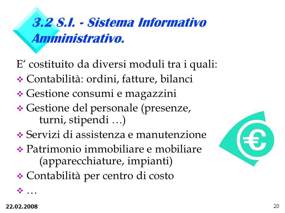 3.2 S.I. - Sistema Informativo Amministrativo.