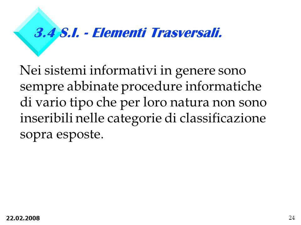 3.4 S.I. - Elementi Trasversali.