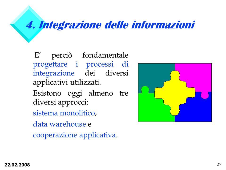 4. Integrazione delle informazioni