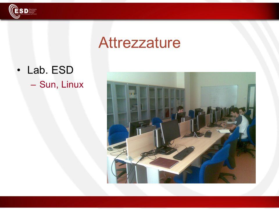 Attrezzature Lab. ESD Sun, Linux