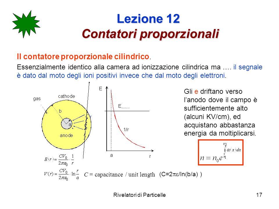 Lezione 12 Contatori proporzionali