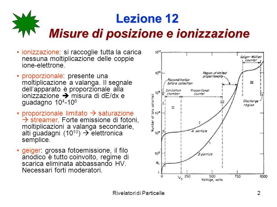 Lezione 12 Misure di posizione e ionizzazione