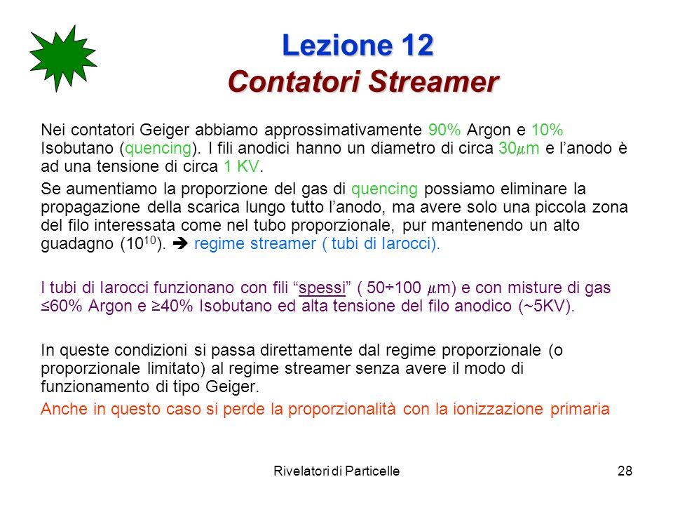 Lezione 12 Contatori Streamer