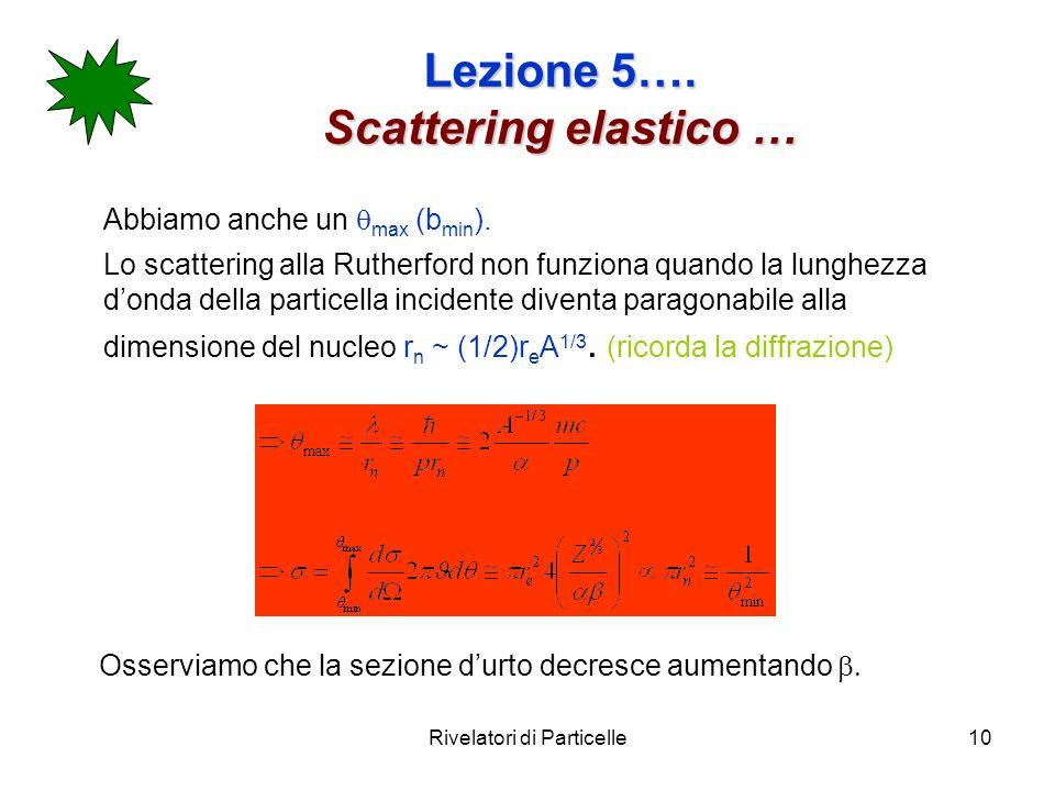 Lezione 5…. Scattering elastico …
