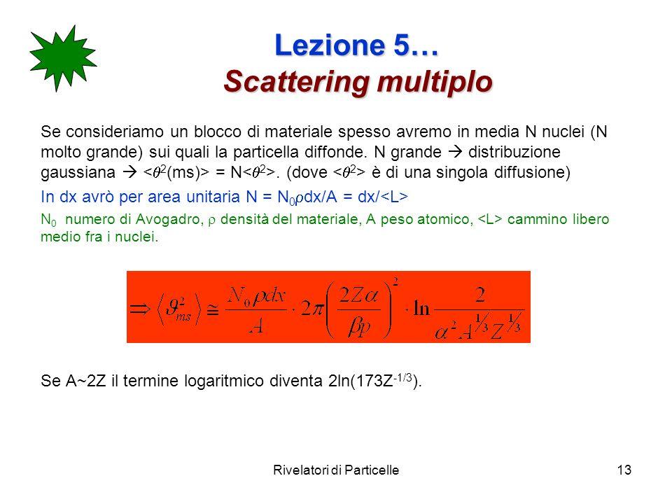 Lezione 5… Scattering multiplo