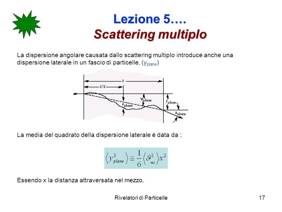 Lezione 5…. Scattering multiplo