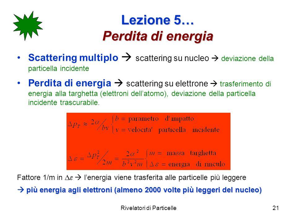 Lezione 5… Perdita di energia