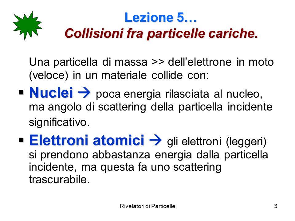 Lezione 5… Collisioni fra particelle cariche.