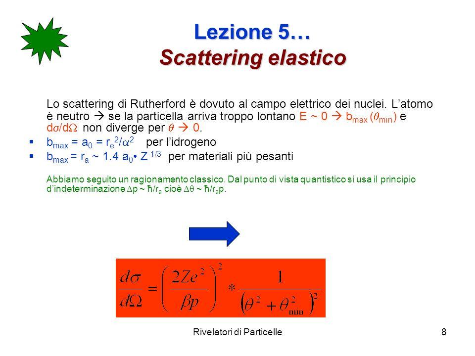 Lezione 5… Scattering elastico