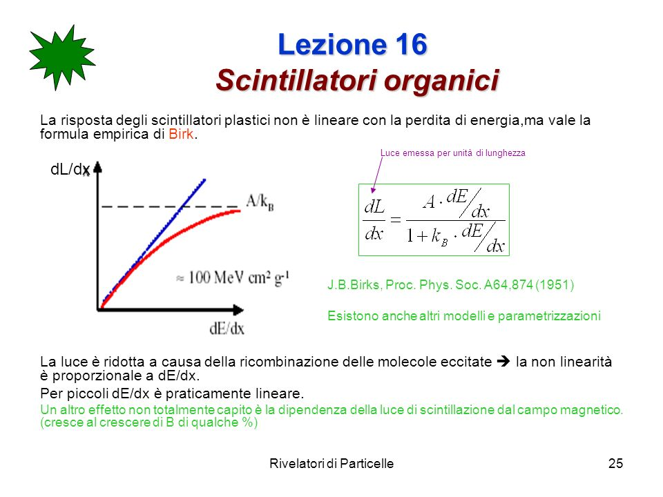 Lezione 16 Scintillatori organici