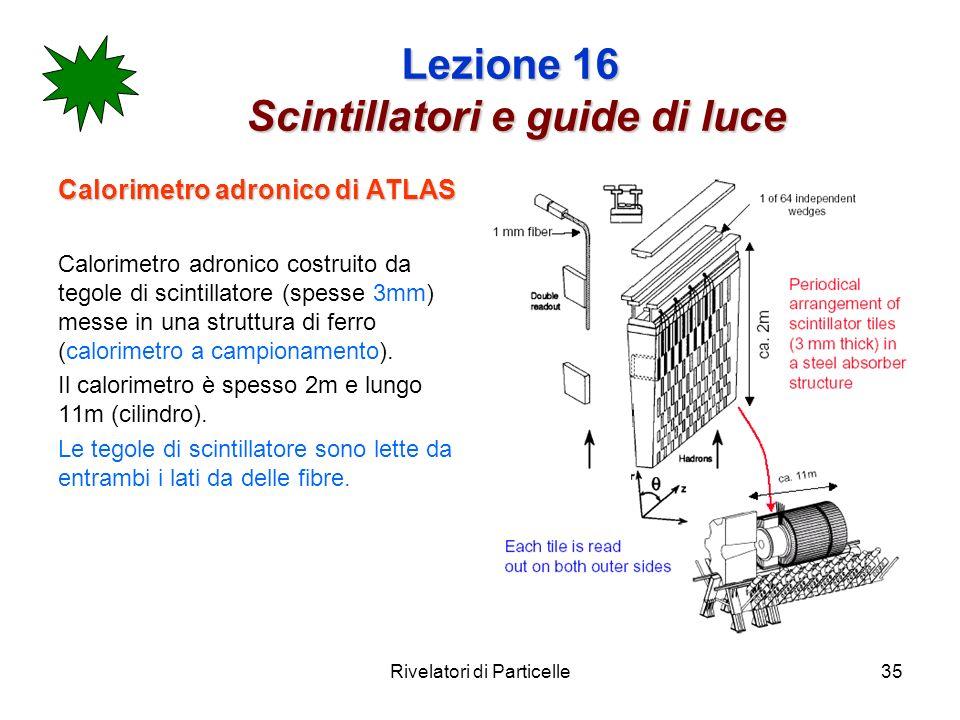 Lezione 16 Scintillatori e guide di luce
