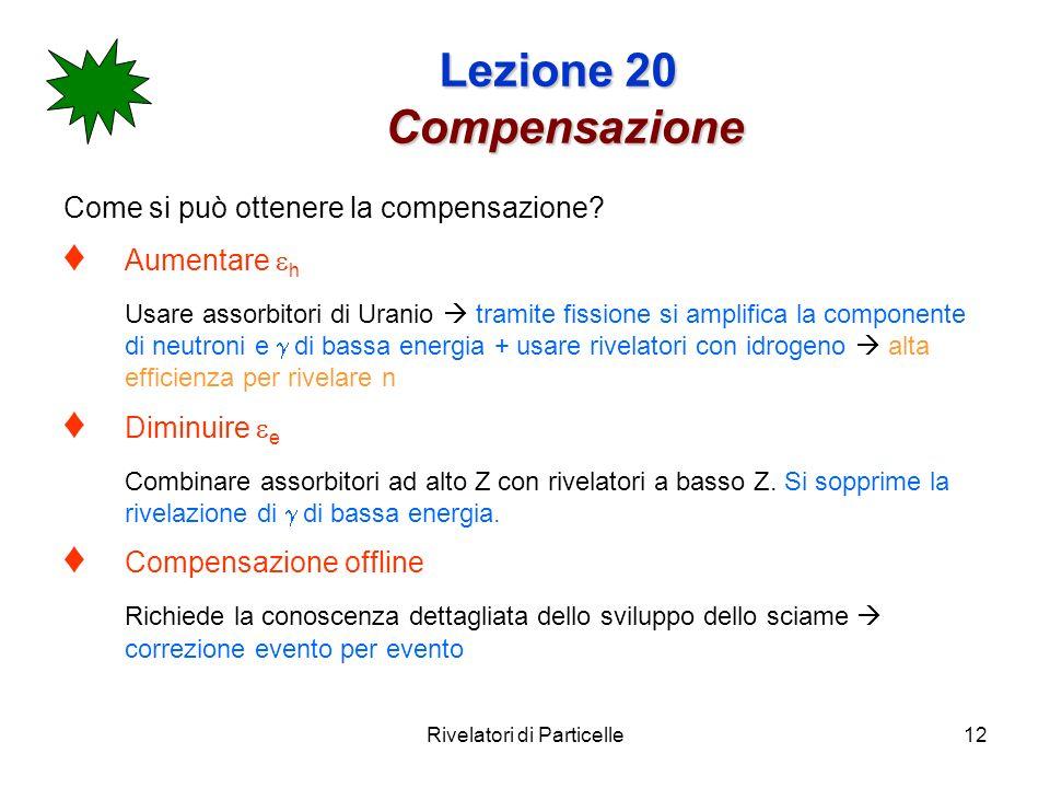 Lezione 20 Compensazione