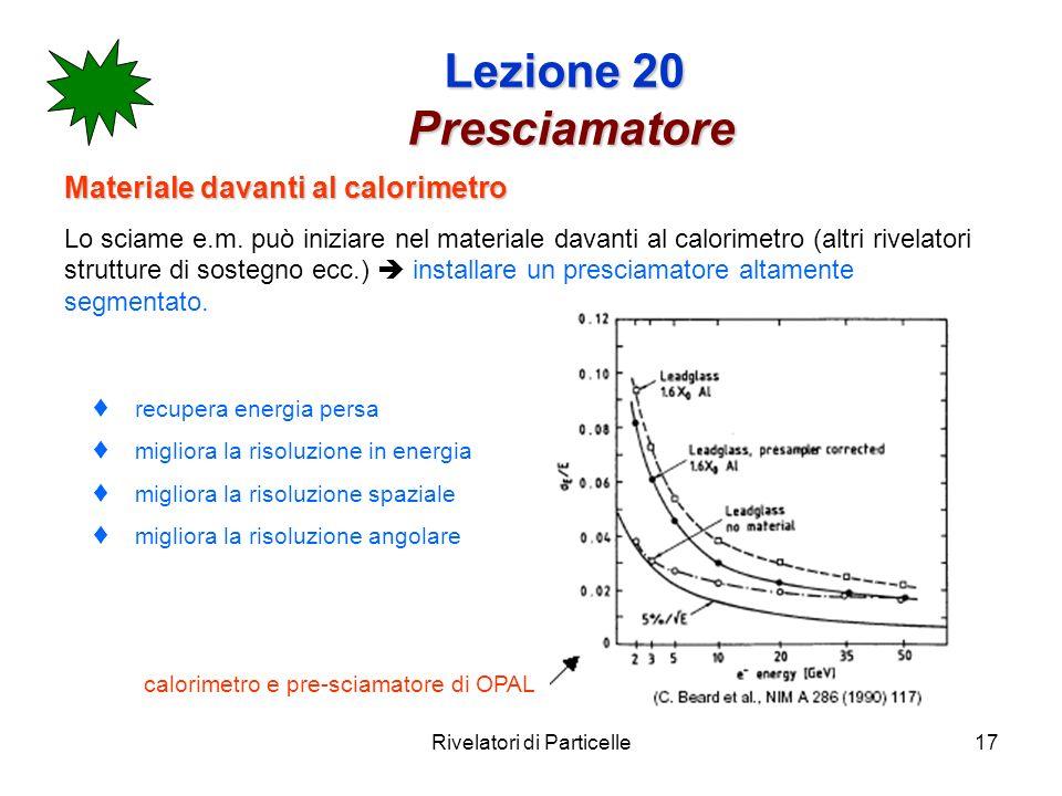 Lezione 20 Presciamatore