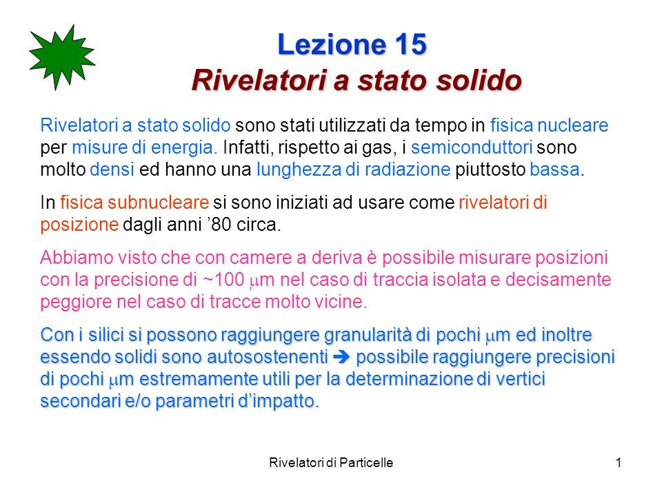 Lezione 15 Rivelatori a stato solido