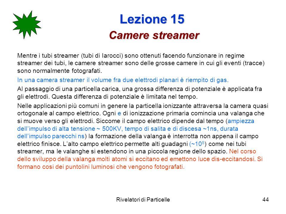 Lezione 15 Camere streamer