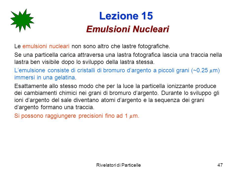 Lezione 15 Emulsioni Nucleari