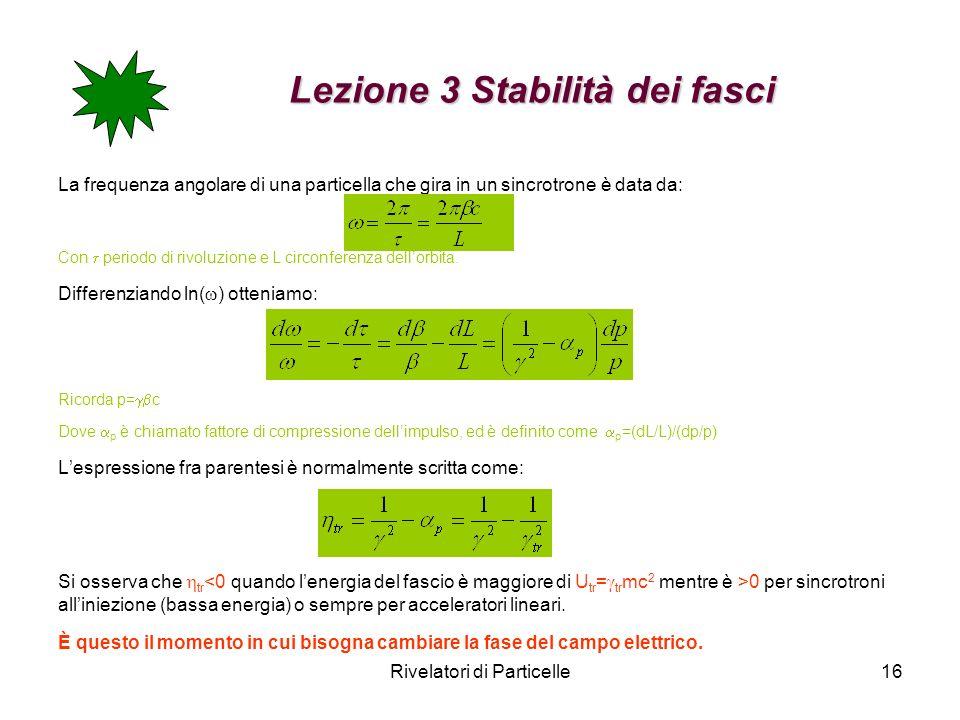 Lezione 3 Stabilità dei fasci