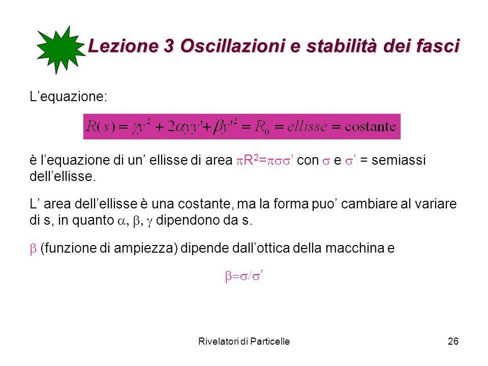 Lezione 3 Oscillazioni e stabilità dei fasci