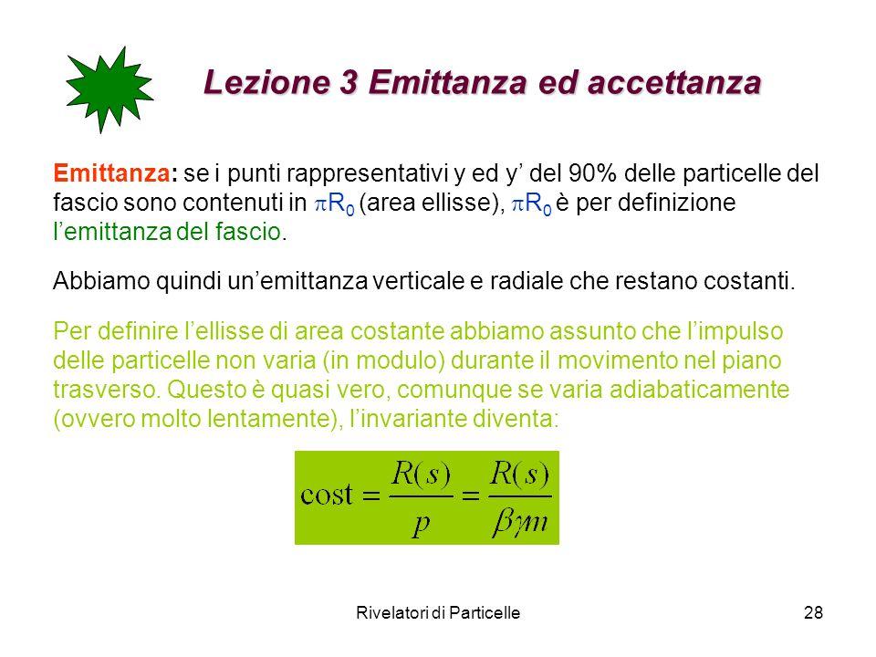 Lezione 3 Emittanza ed accettanza