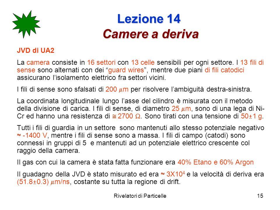 Lezione 14 Camere a deriva