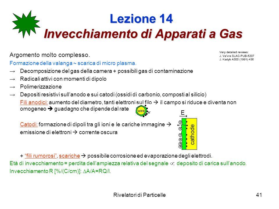 Lezione 14 Invecchiamento di Apparati a Gas