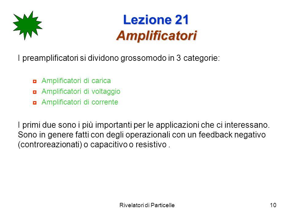 Lezione 21 Amplificatori
