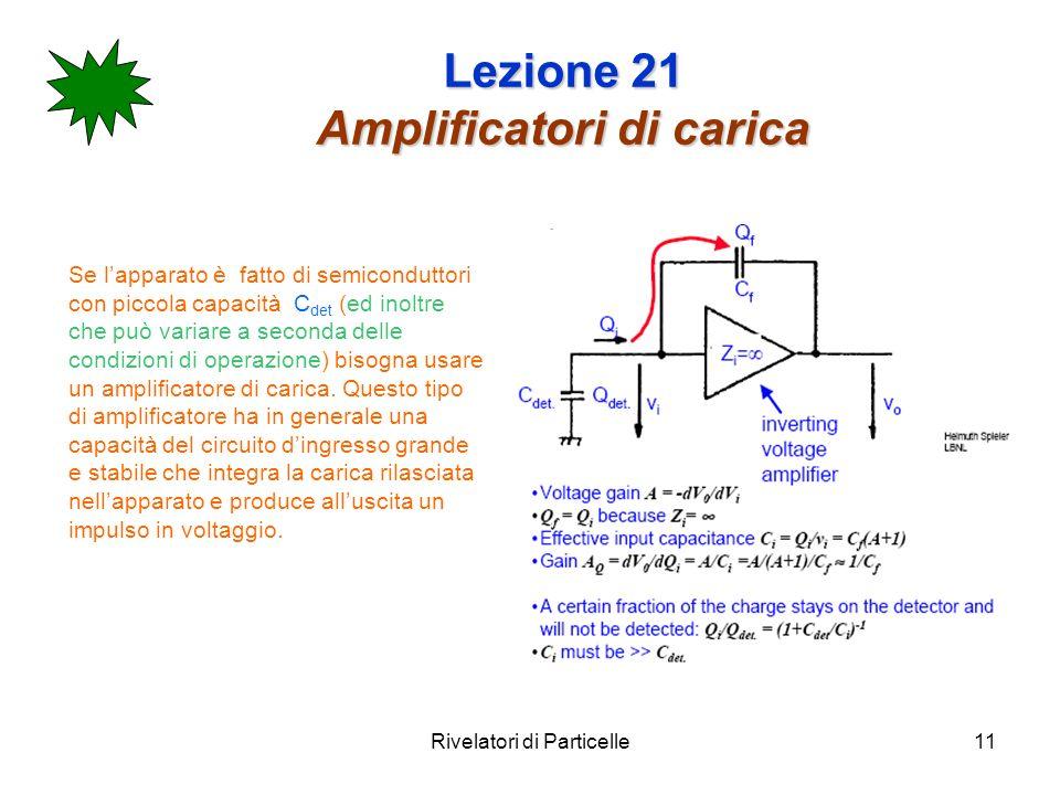 Lezione 21 Amplificatori di carica