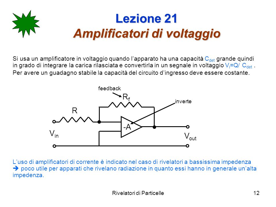 Lezione 21 Amplificatori di voltaggio