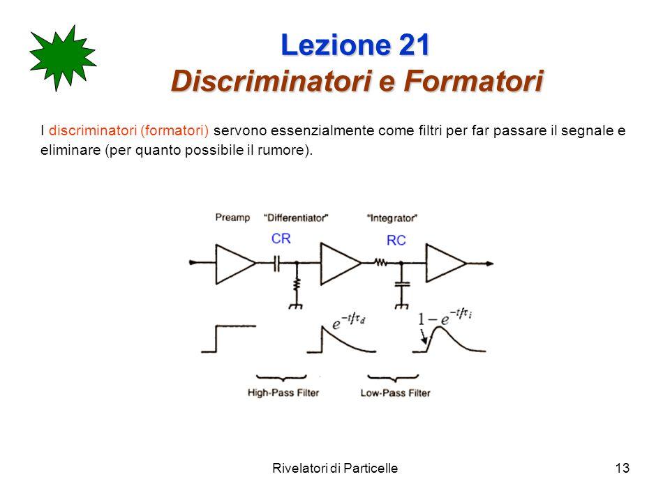 Lezione 21 Discriminatori e Formatori