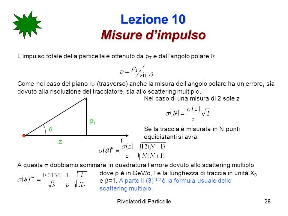 Lezione 10 Misure d'impulso