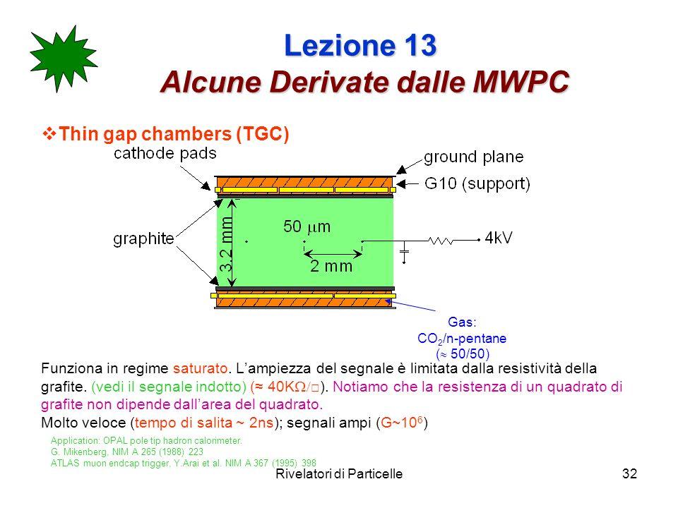 Lezione 13 Alcune Derivate dalle MWPC