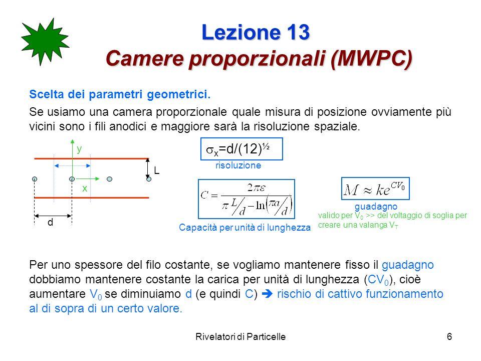 Lezione 13 Camere proporzionali (MWPC)