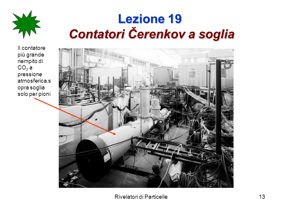 Lezione 19 Contatori Čerenkov a soglia