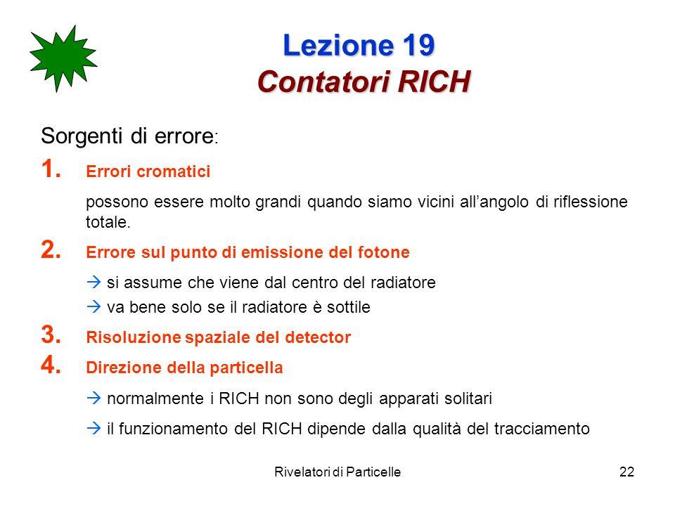 Lezione 19 Contatori RICH