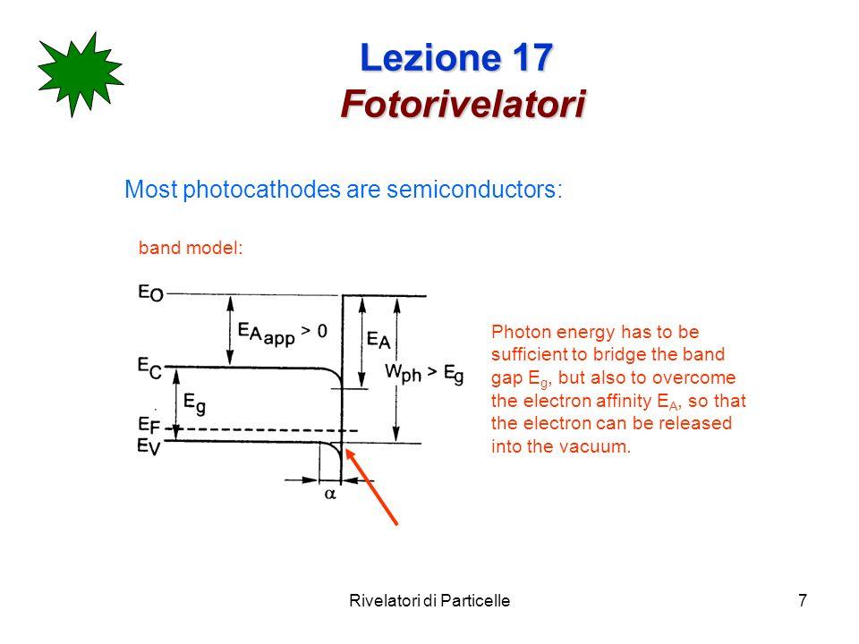 Lezione 17 Fotorivelatori
