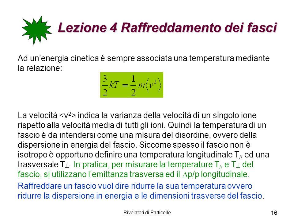 Lezione 4 Raffreddamento dei fasci