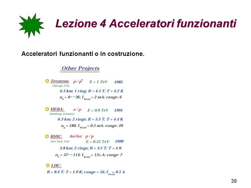 Lezione 4 Acceleratori funzionanti