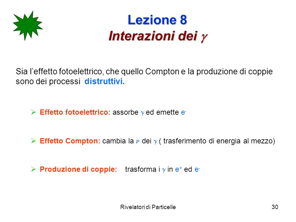 Lezione 8 Interazioni dei g