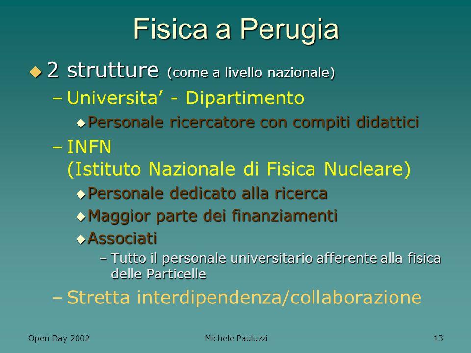Fisica a Perugia 2 strutture (come a livello nazionale)