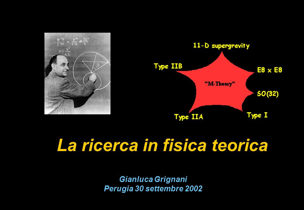 La ricerca in fisica teorica